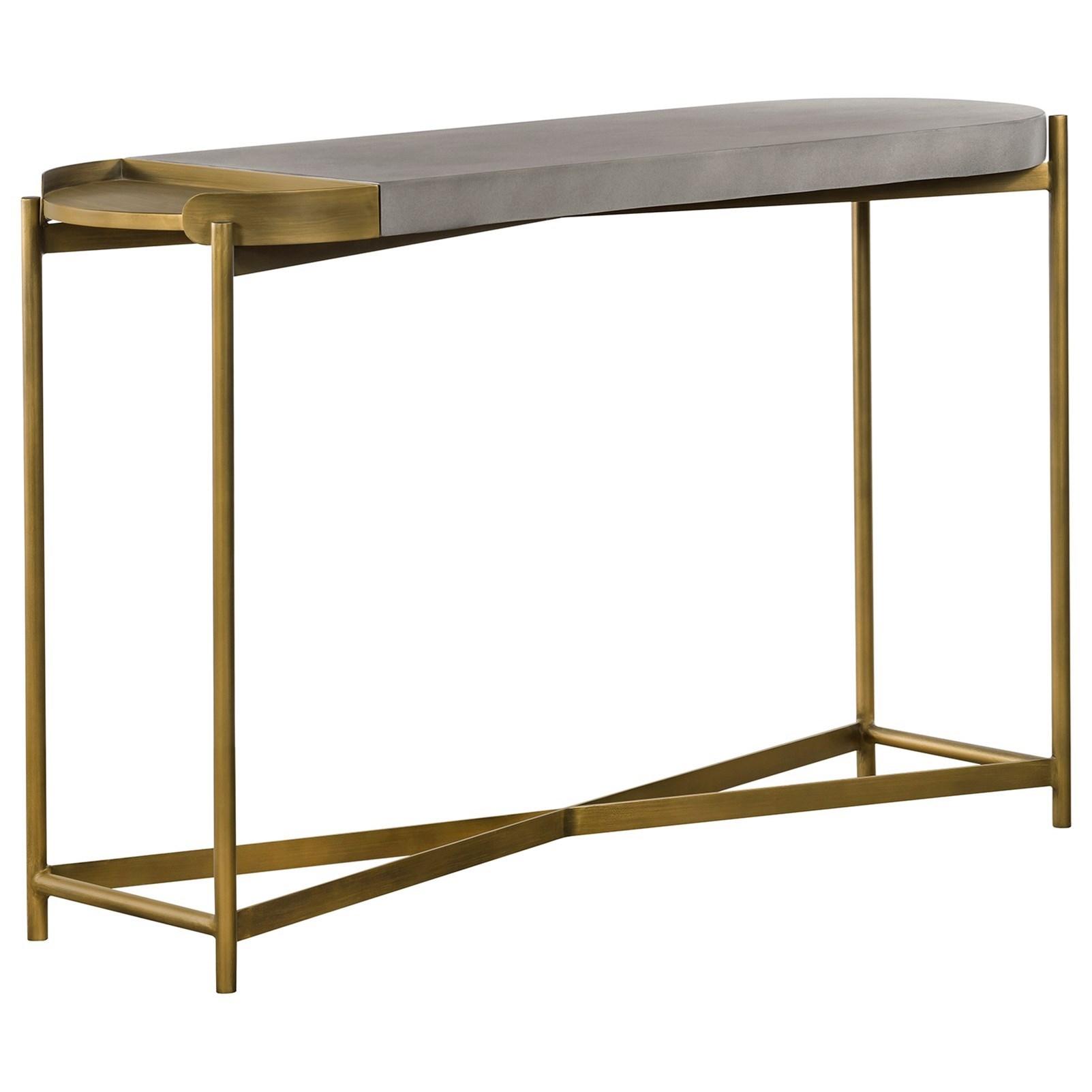 Dua Concrete Console Table at Sadler's Home Furnishings