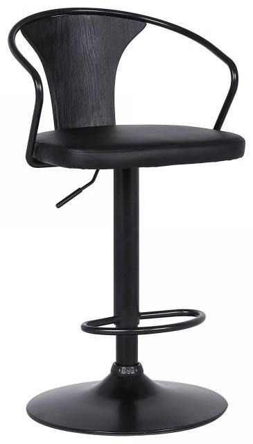 Eagle Adjustable Black Barstool by Armen Living at Sam Levitz Outlet