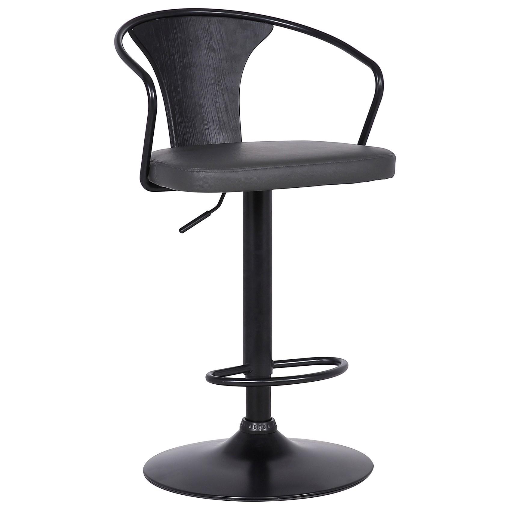 Eagle Contemporary Adjustable Barstool by Armen Living at Michael Alan Furniture & Design