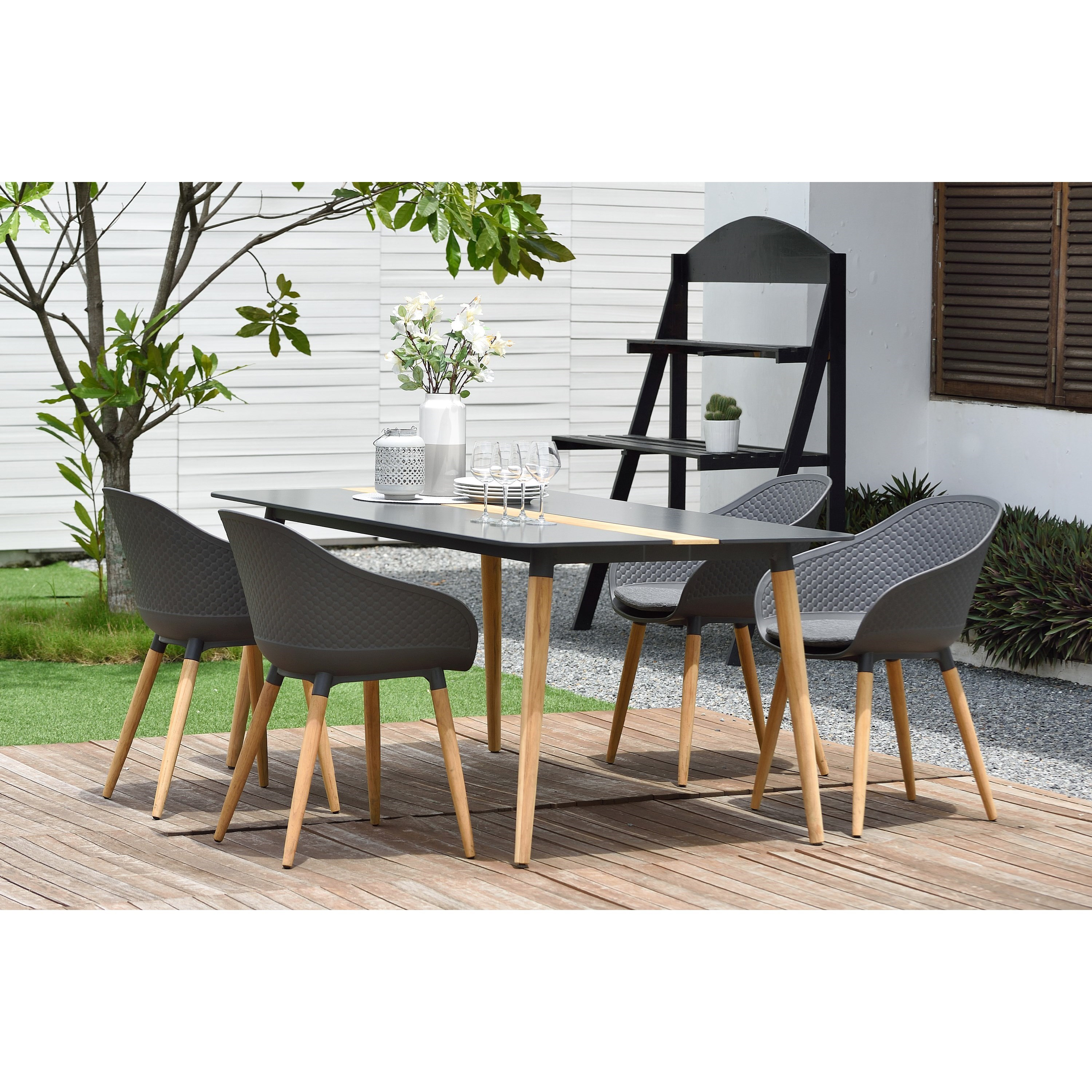 Ipanema 5-Piece Outdoor Dining Set by Armen Living at Michael Alan Furniture & Design