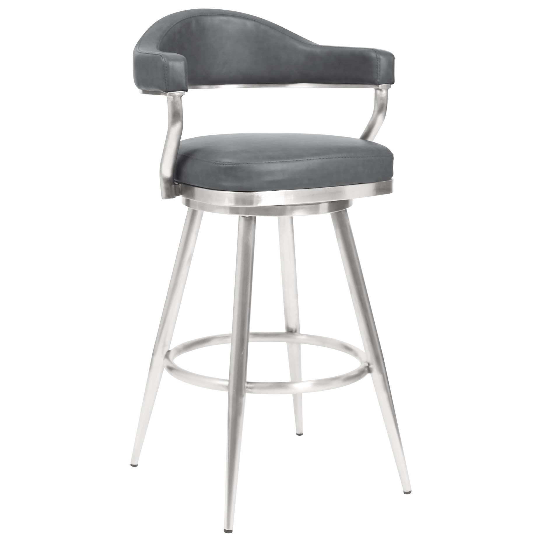 "Justin 30"" Bar Height Barstool by Armen Living at Darvin Furniture"
