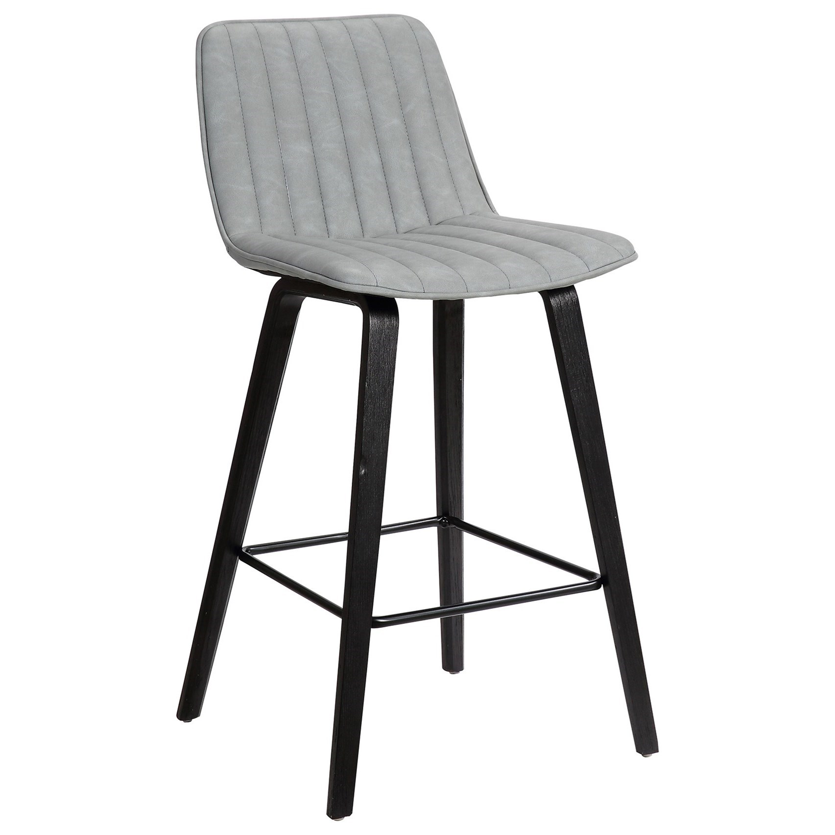 """Lorenz 26"""" Gray Faux Leather Barstool at Sadler's Home Furnishings"""