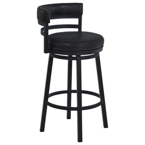 "26"" Barstool with Upholstered Swivel Seat"