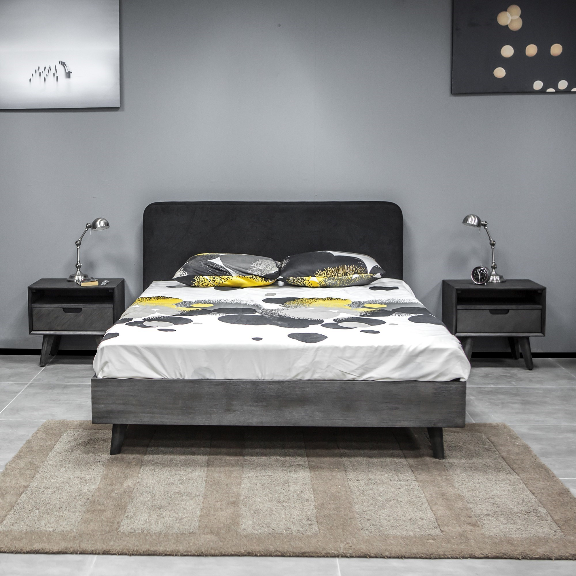 Mohave 3 Piece Acacia Queen Bed and Nightstands Bed at Sadler's Home Furnishings