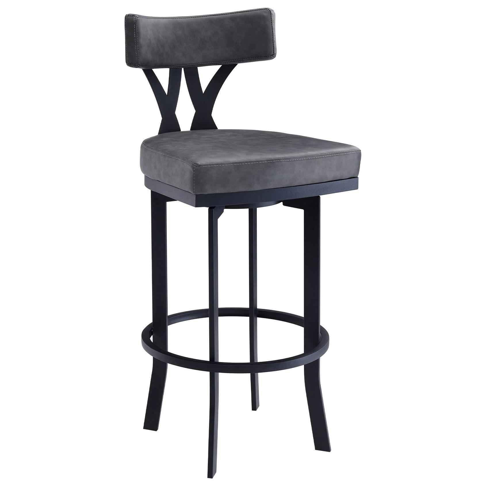 "Natalie 30"" Bar Height Barstool by Armen Living at Michael Alan Furniture & Design"