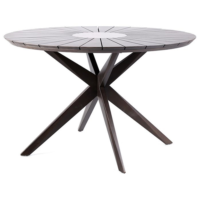 Oasis Outdoor Patio Eucalyptus Wood Dining Table at Sadler's Home Furnishings