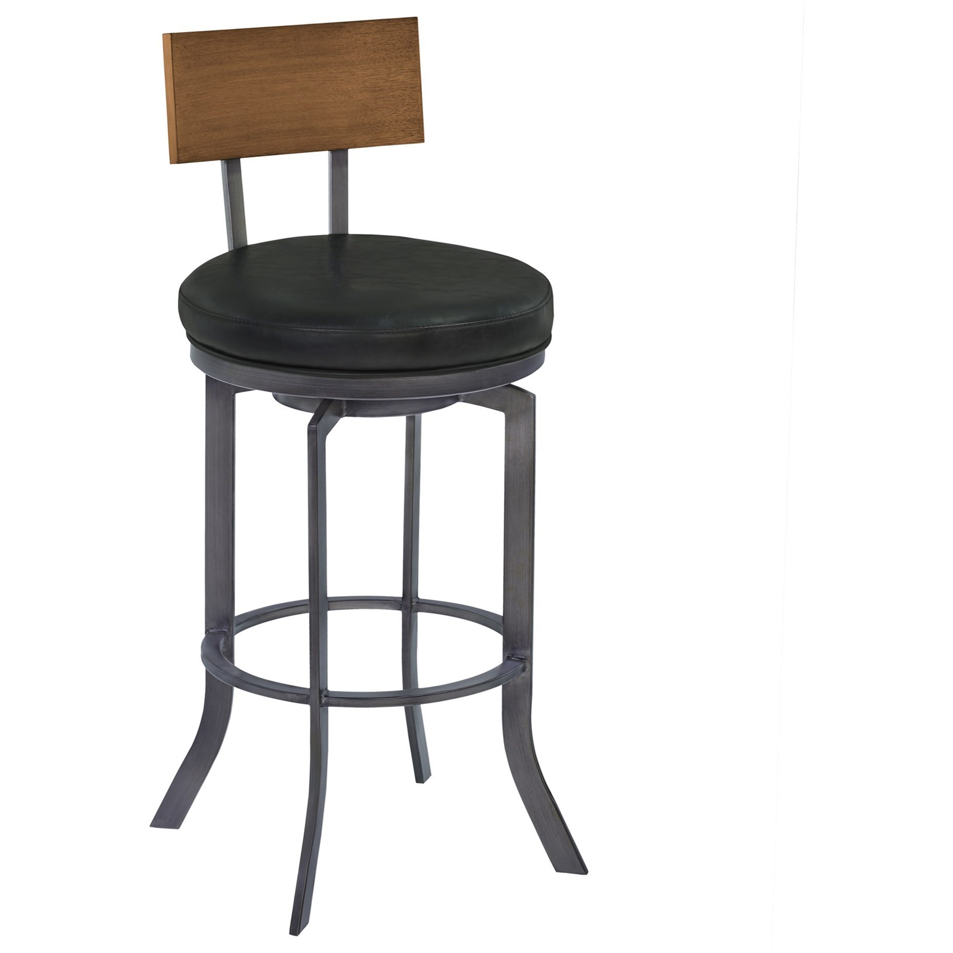 "Ojai 30"" Bar Height Metal Swivel Barstool by Armen Living at Michael Alan Furniture & Design"