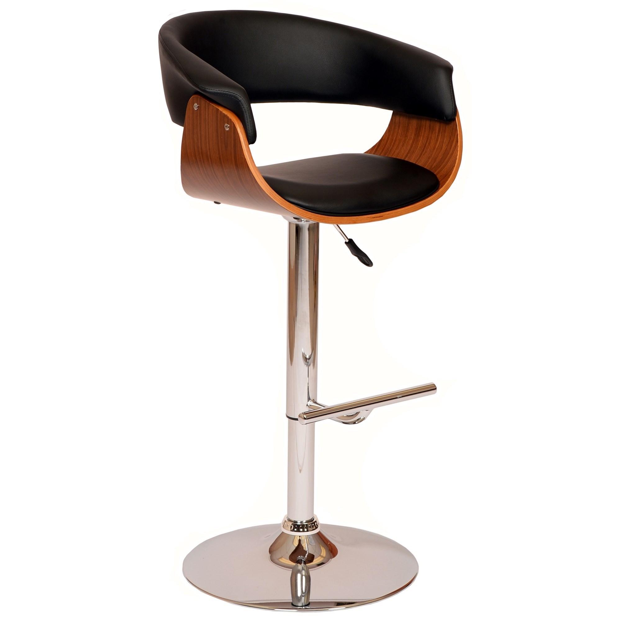 Paris Adjustable Swivel Bar Stool at Sadler's Home Furnishings