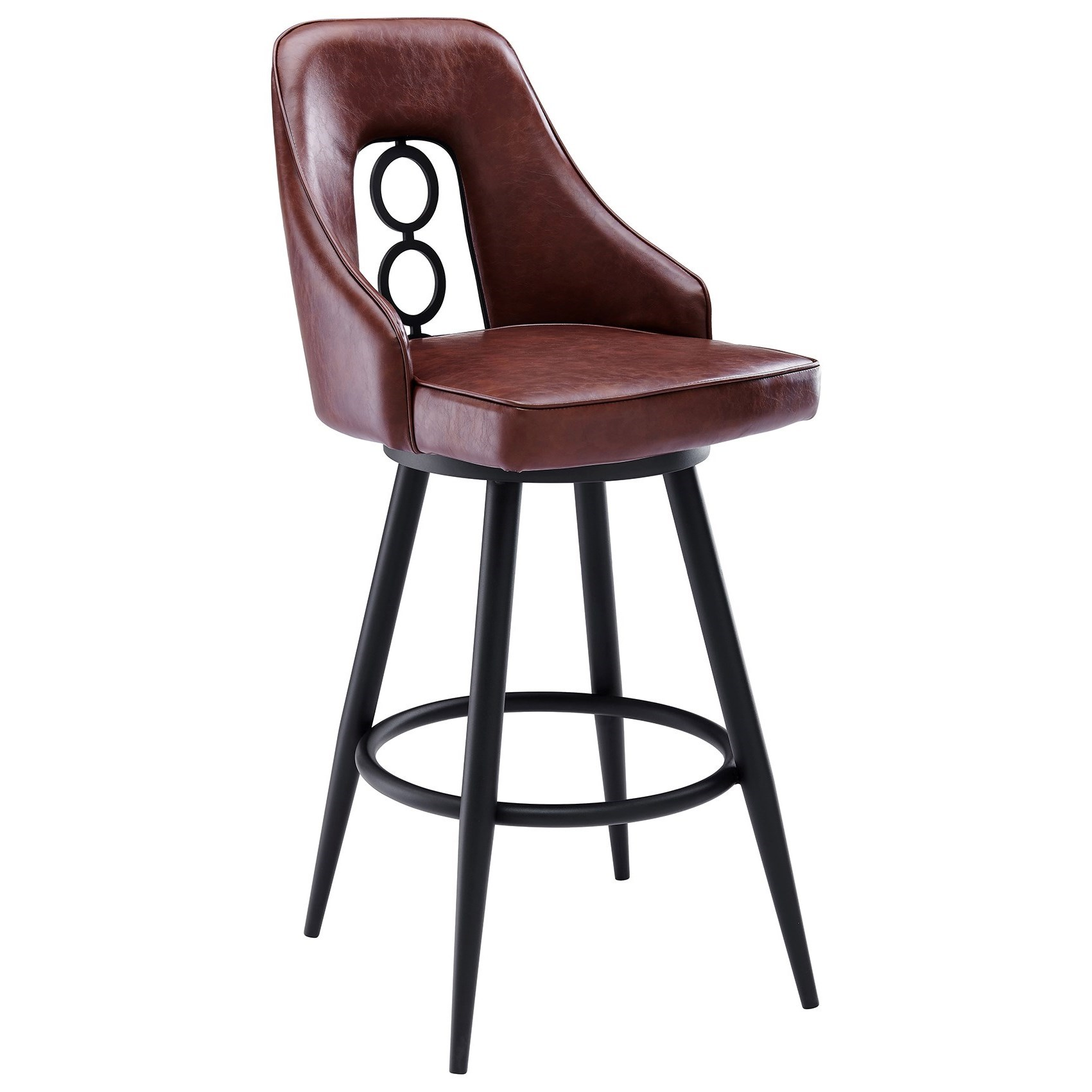 """Ruby Contemporary 30"""" Bar Height Barstool by Armen Living at Dream Home Interiors"""