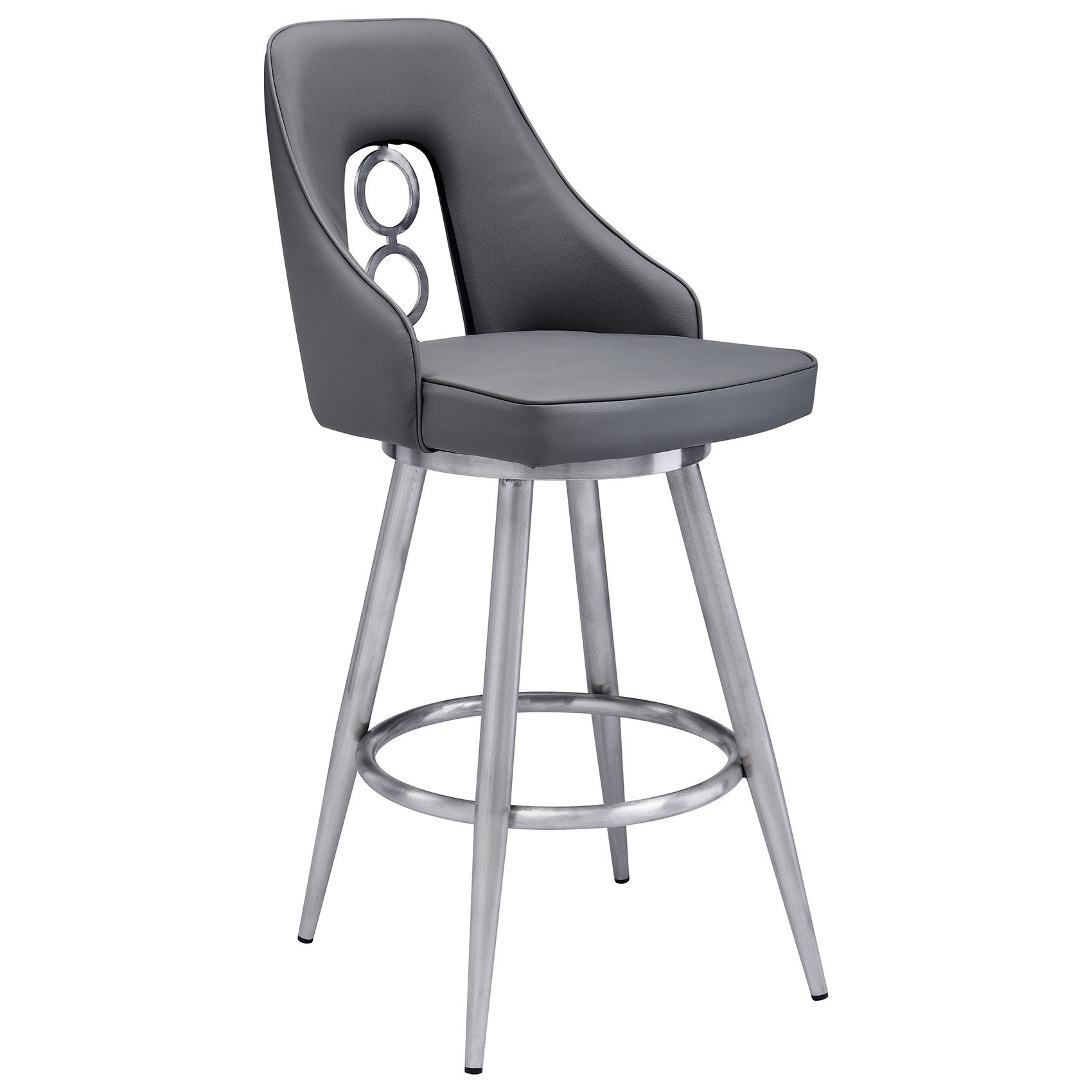 "Ruby Contemporary 30"" Bar Height Barstool by Armen Living at Dream Home Interiors"