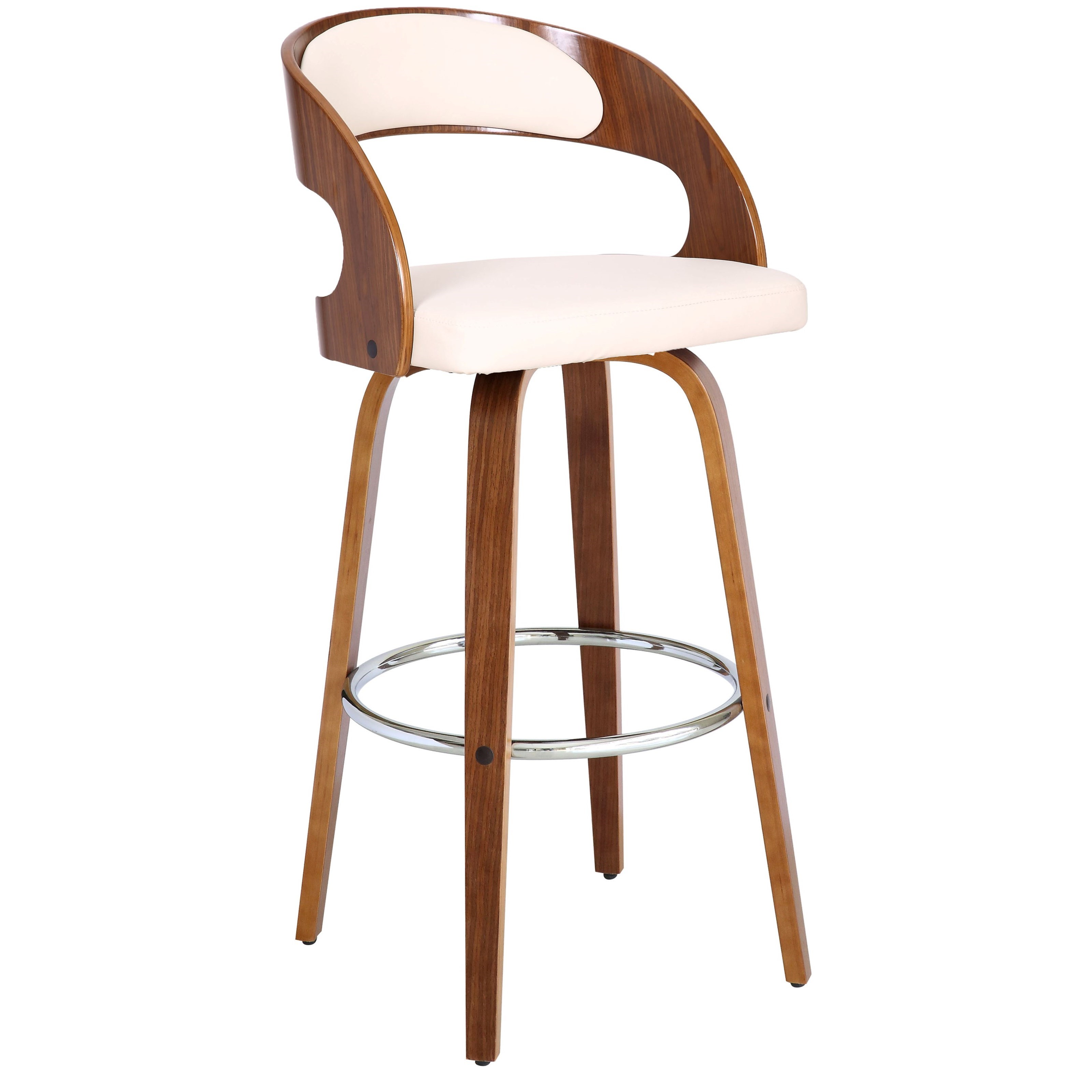 """Shelly Contemporary 30"""" Bar Height Swivel Stool by Armen Living at Dream Home Interiors"""