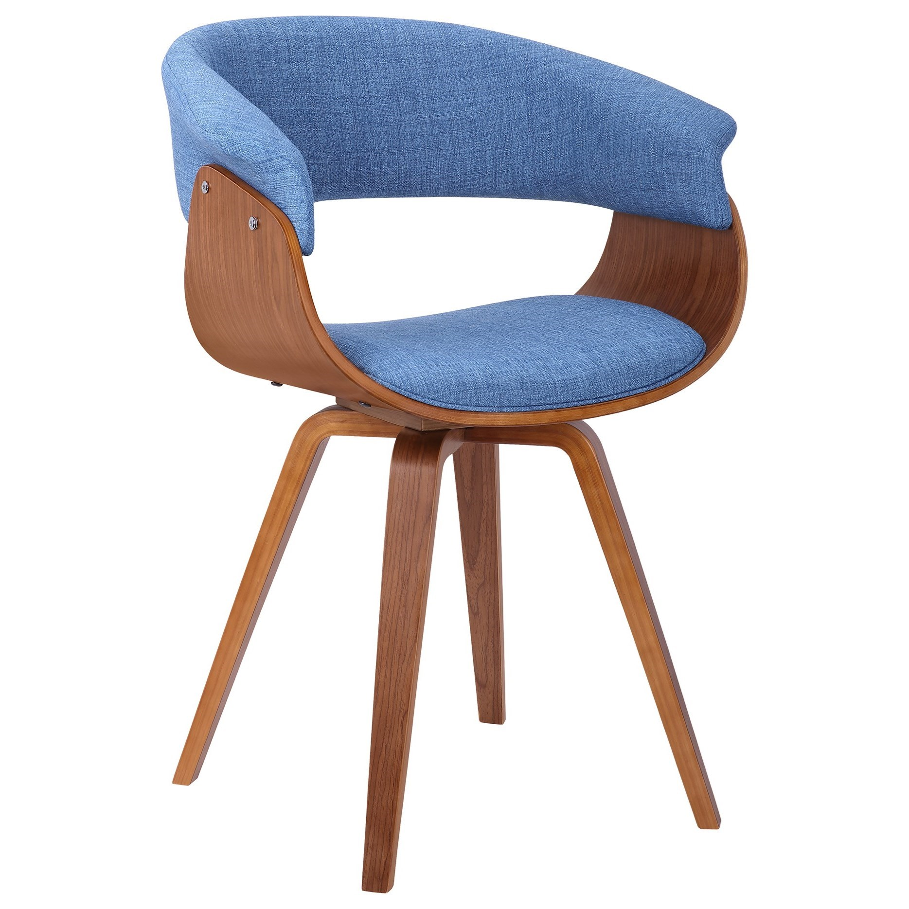 Summer Mid-Century Chair in Blue Fabric at Sadler's Home Furnishings