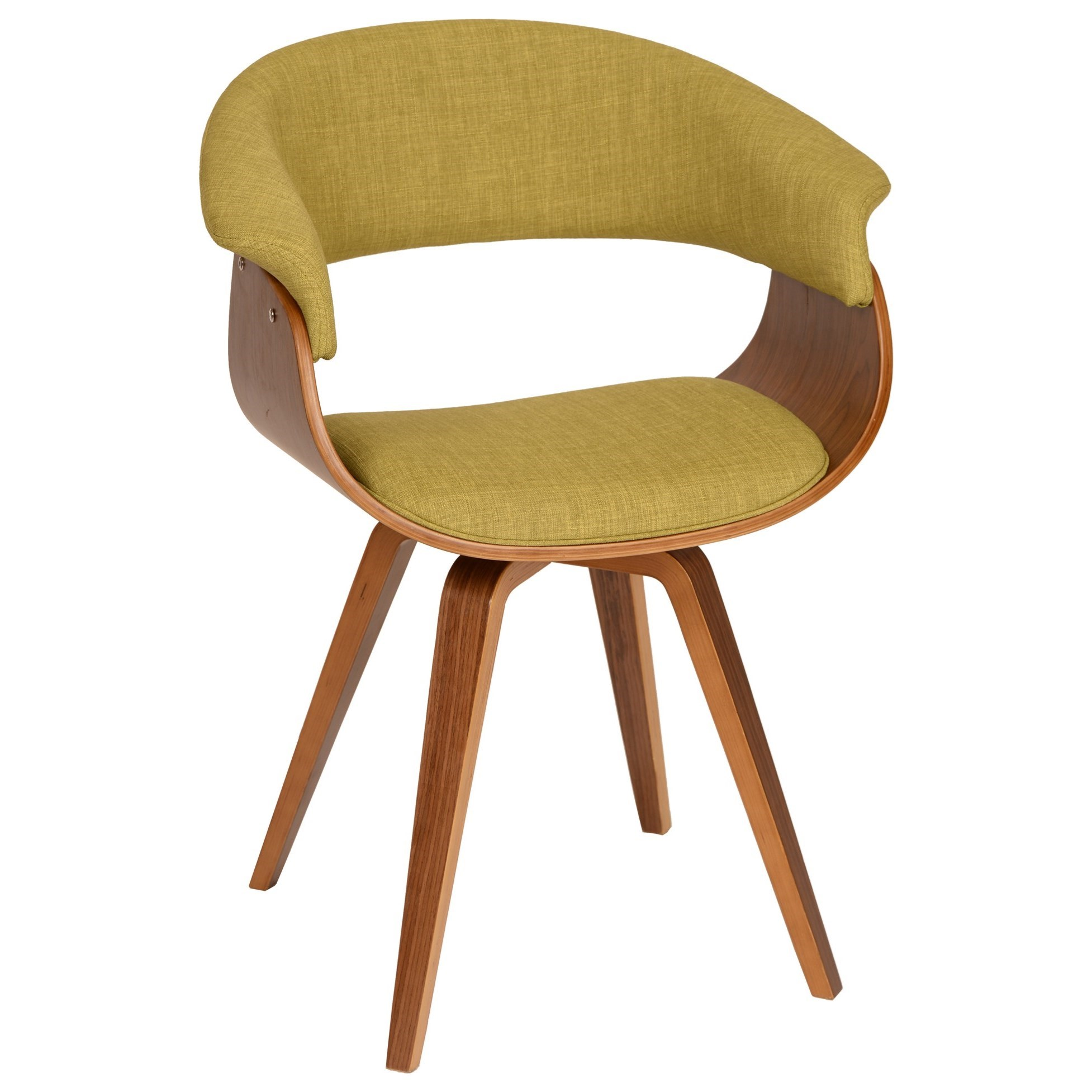 Summer Modern Chair in Green Fabric at Sadler's Home Furnishings