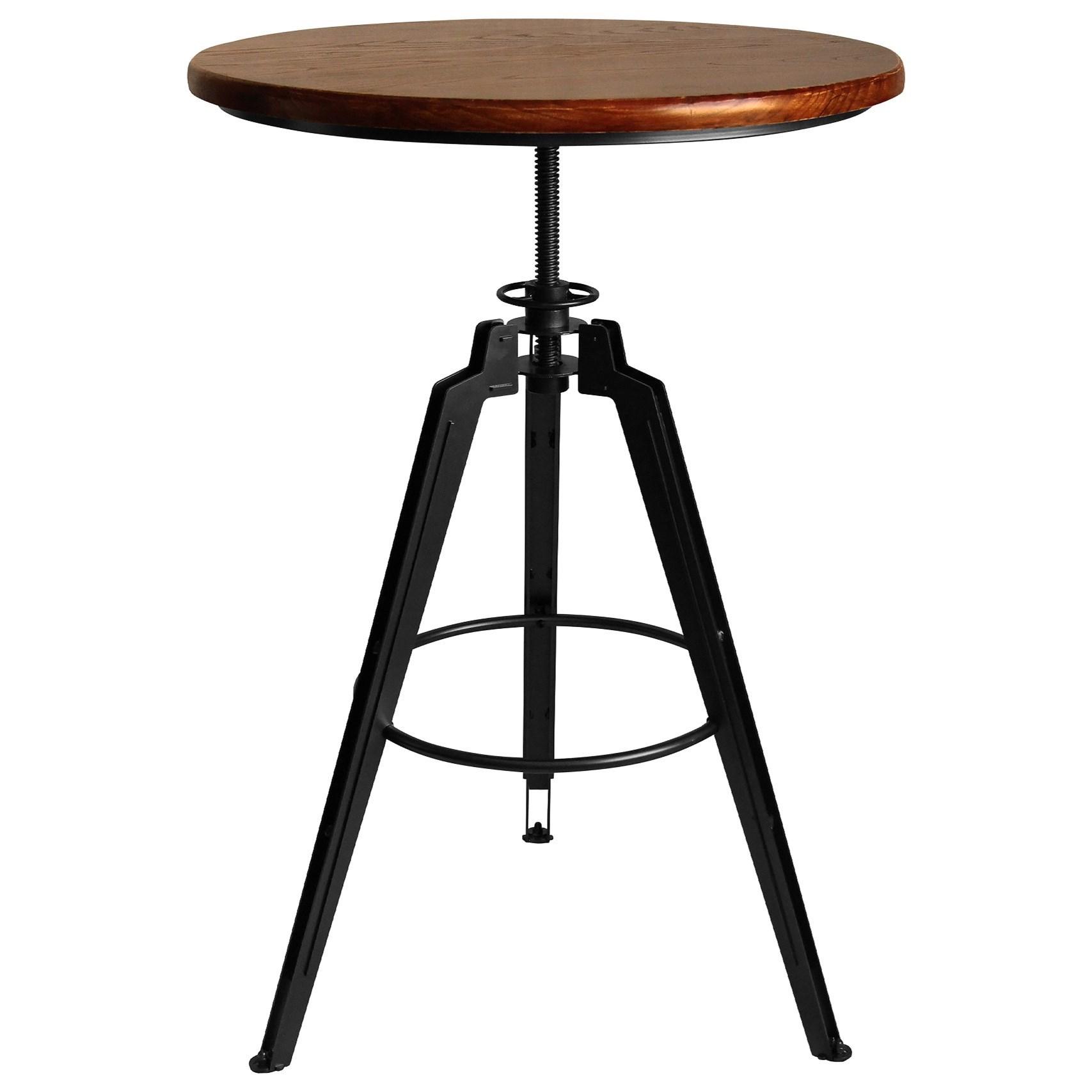 Tribeca Industrial Adjustable Pub Table at Sadler's Home Furnishings