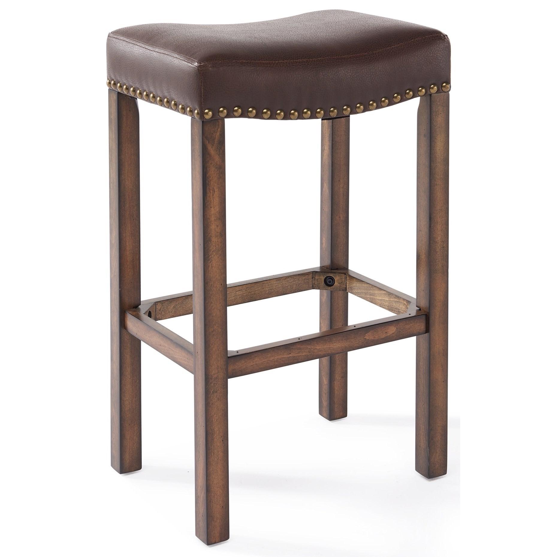 "Tudor 30"" Bar Height Wood Backless Barstool at Sadler's Home Furnishings"