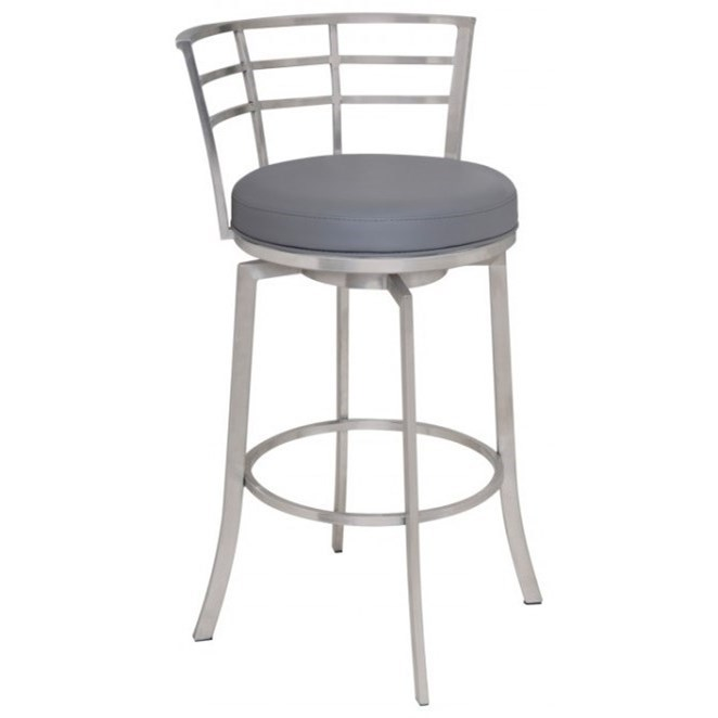 """Viper 26"""" Counter Height Swivel Barstool by Armen Living at Darvin Furniture"""
