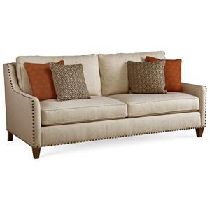 Transitional Small Scale Sofa with Nailheads