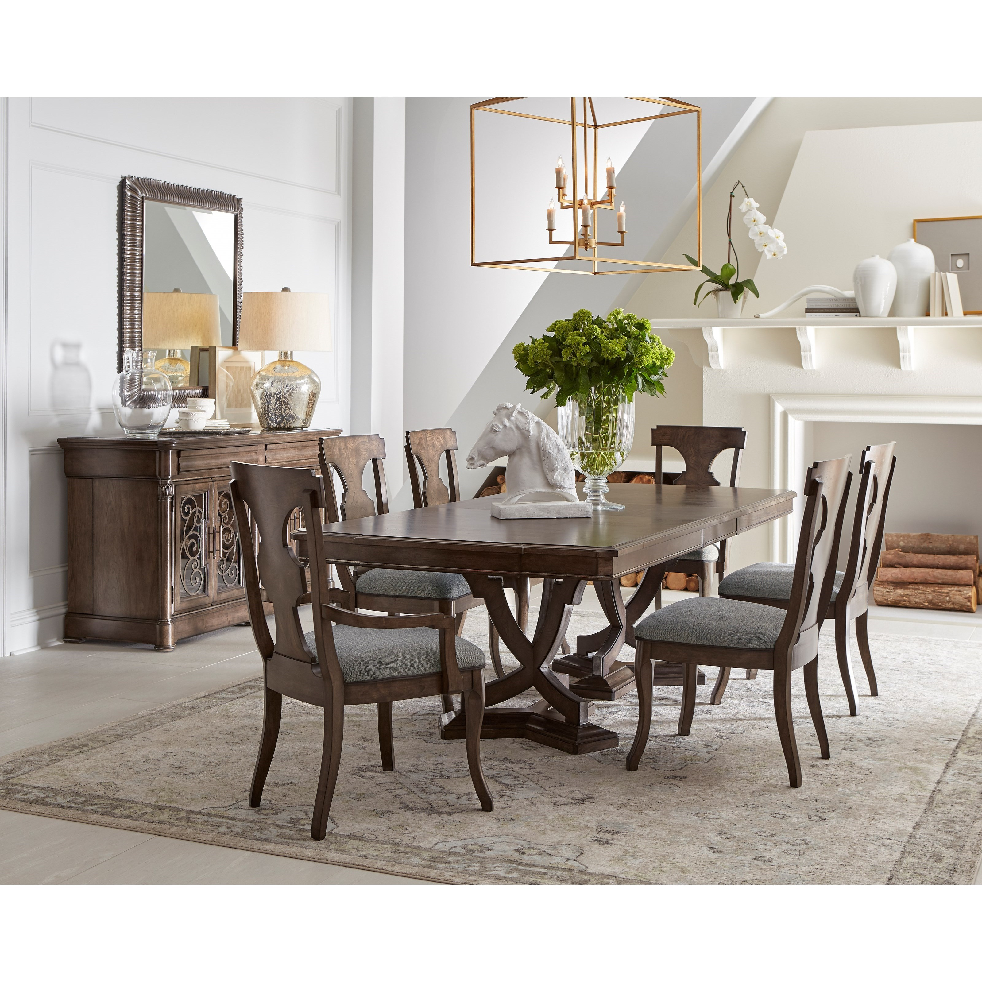 Landmark Formal Dining Group by A.R.T. Furniture Inc at Home Collections Furniture