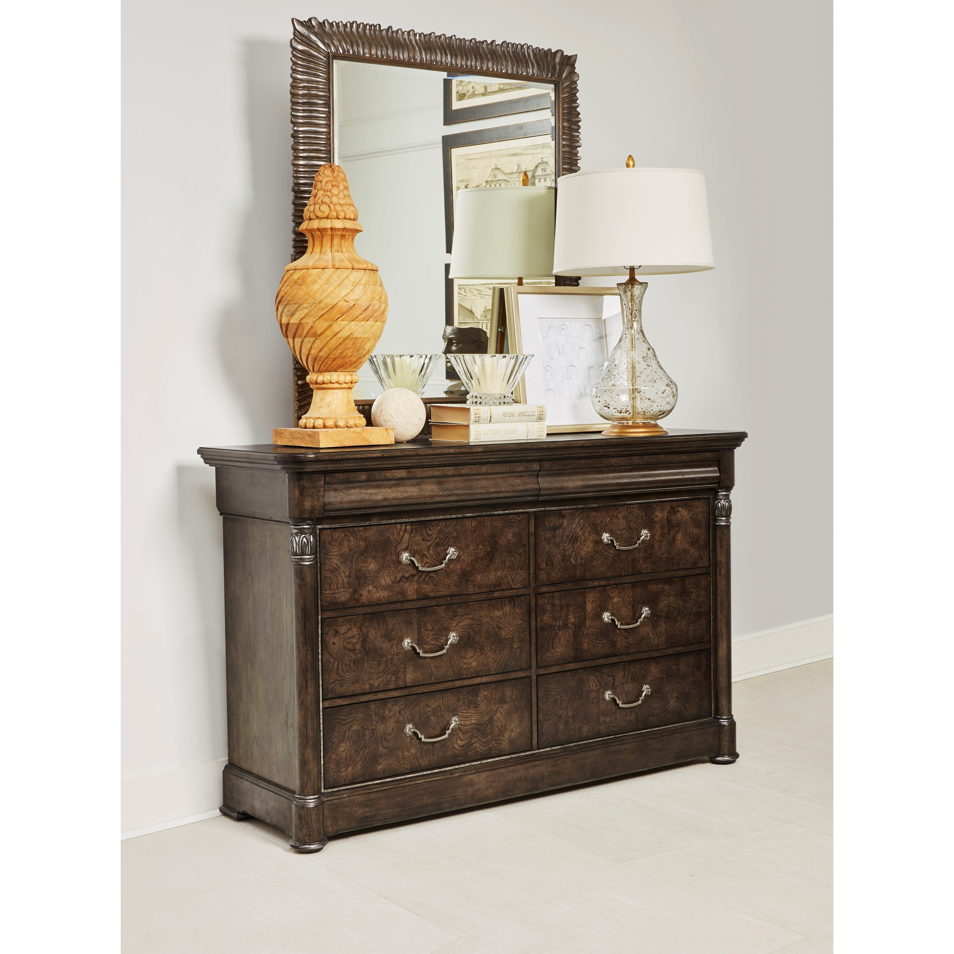 Landmark Dresser and Mirror Combination by A.R.T. Furniture Inc at Home Collections Furniture