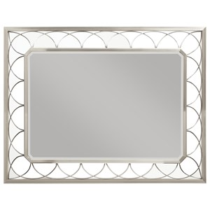 Glam Contemporary Mirror with Metallic Curved Lattice Frame