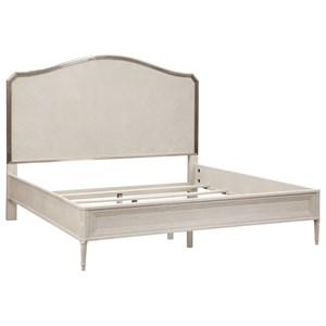 Queen Panel Bed with Metallic Trim
