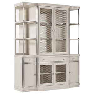 Glam Contemporary China Cabinet with Stemware Storage