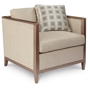 Contemporary Astor Chair with Tuxedo Arms
