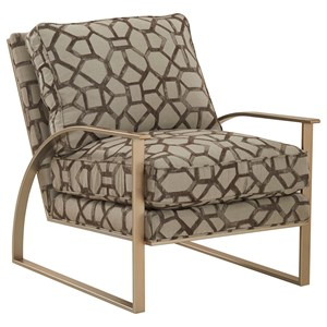Contemporary Bedford Accent Chair with Metal Frame