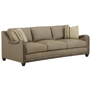 "Dover Sage 88"" Sofa with Nailhead Trim"