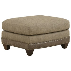Dover Ottoman with Nailhead Trim