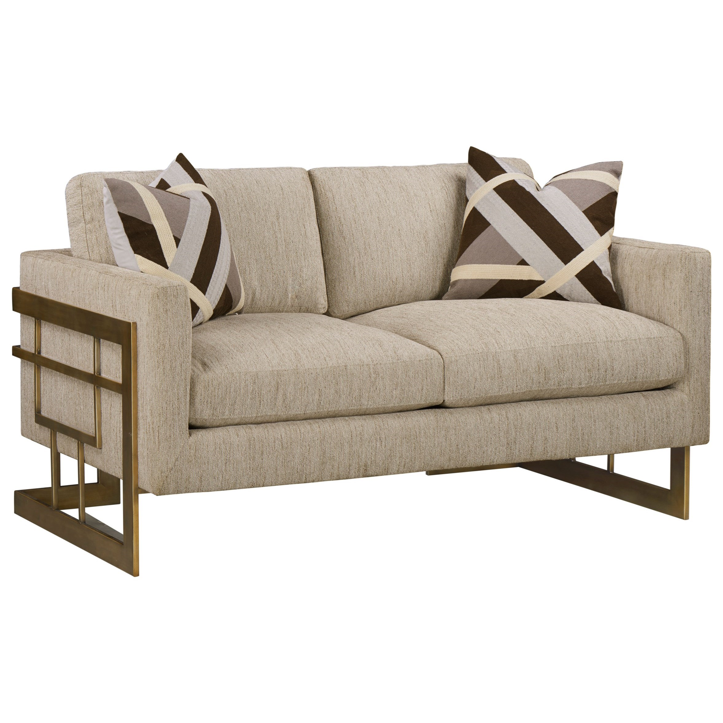 WoodWright Upholstery Loveseat by A.R.T. Furniture Inc at Powell's Furniture and Mattress