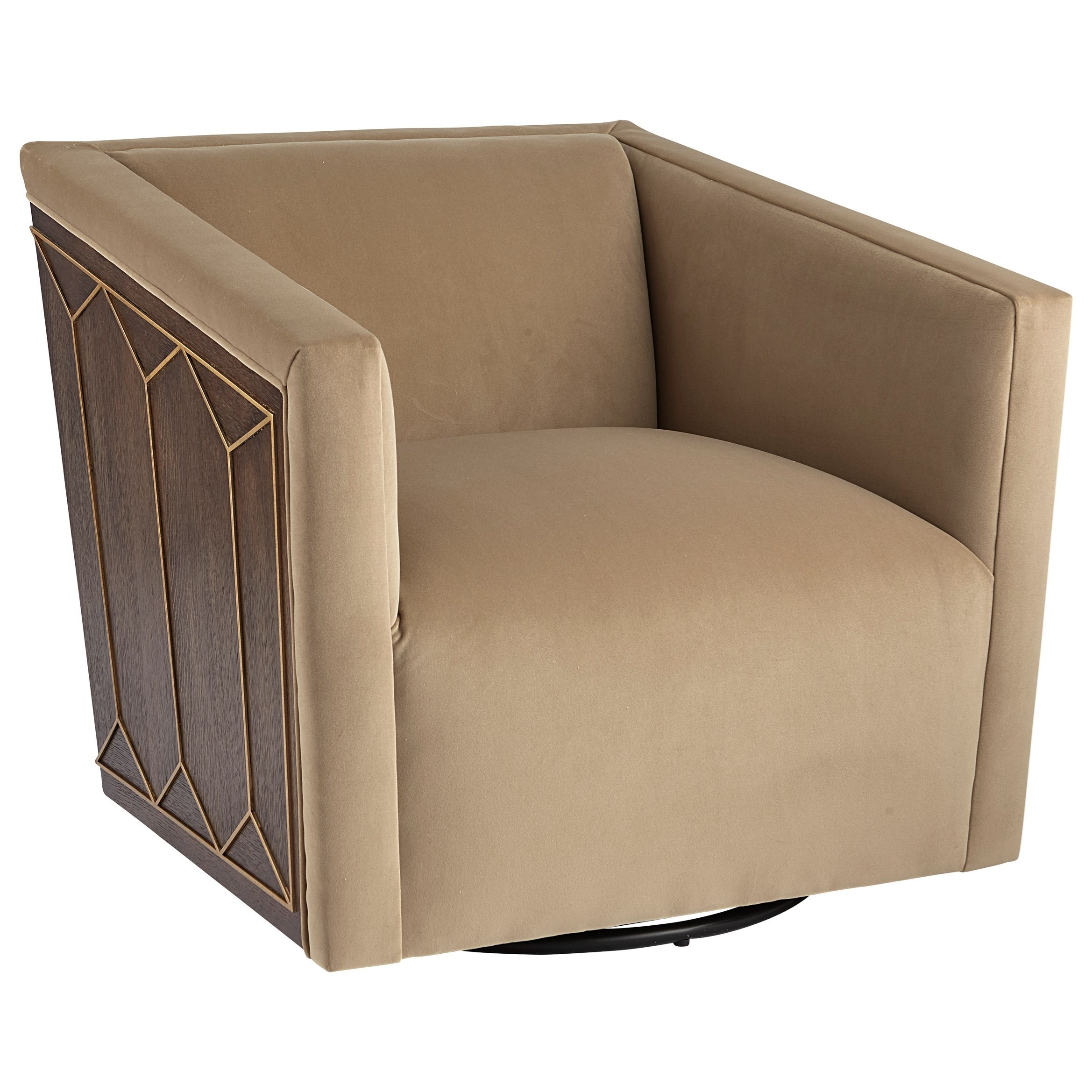 WoodWright Upholstery Upholstered Swivel Chair by A.R.T. Furniture Inc at Home Collections Furniture