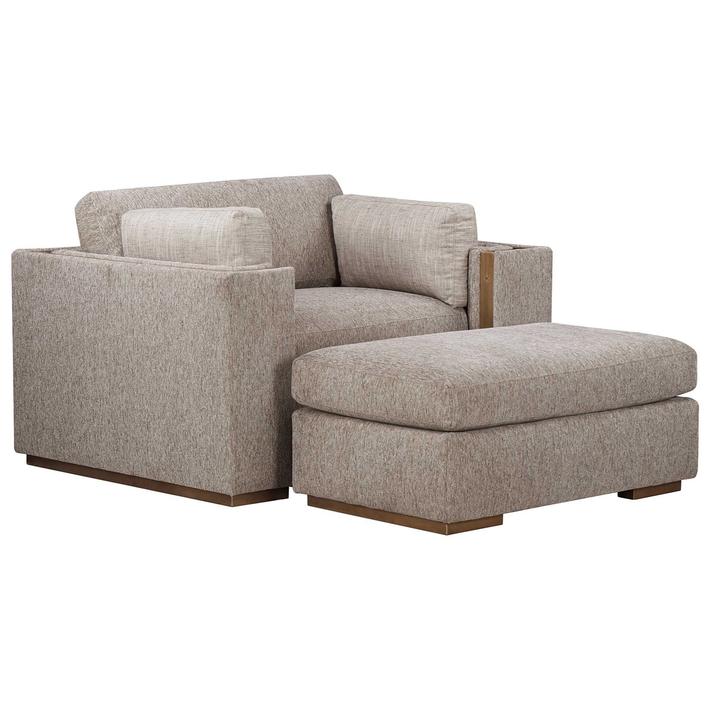 WoodWright Upholstery Chair and Ottoman Set by A.R.T. Furniture Inc at Dream Home Interiors