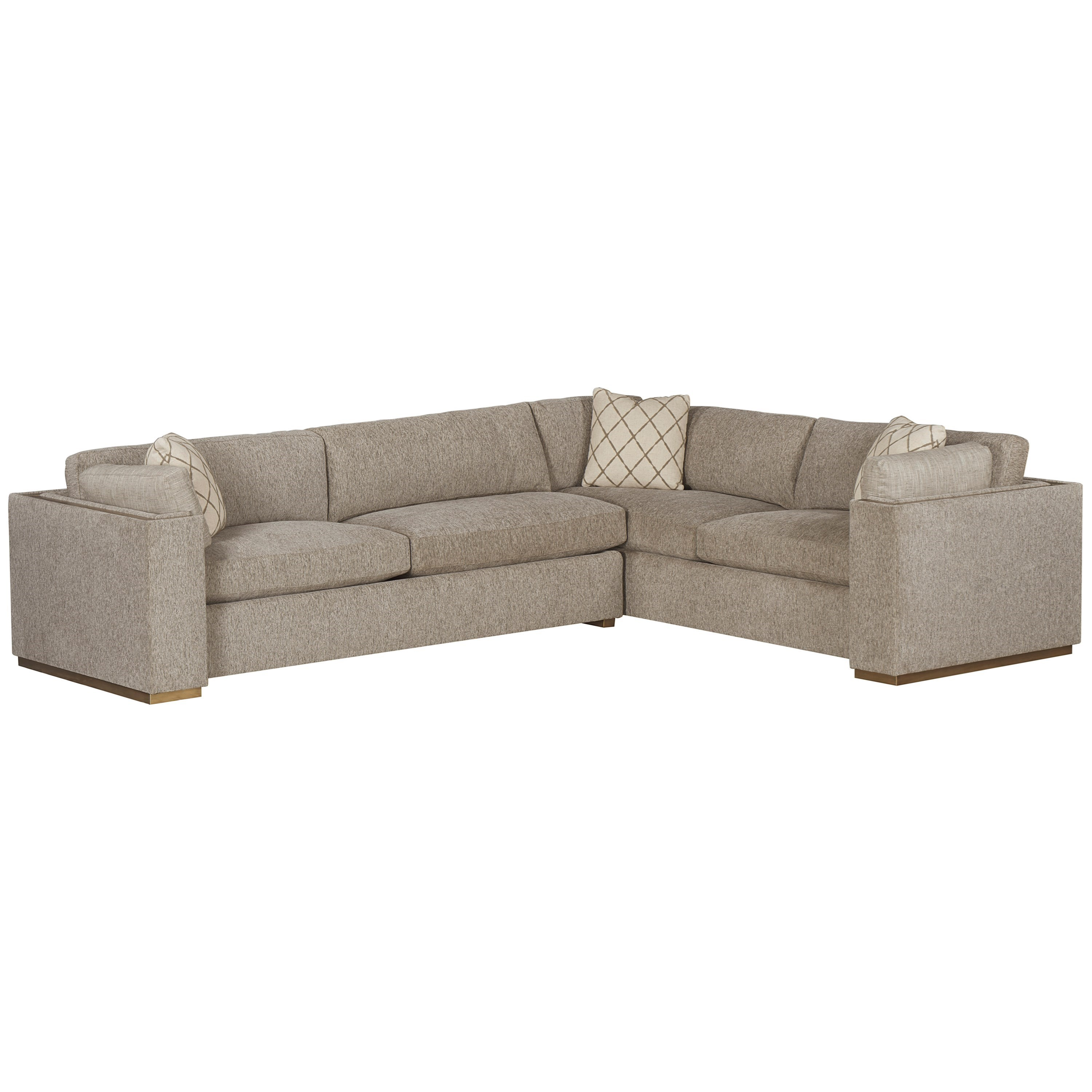 WoodWright Upholstery Sectional Sofa by A.R.T. Furniture Inc at Powell's Furniture and Mattress
