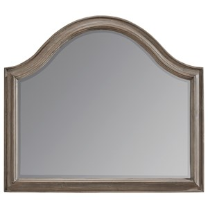 Solid Pine Arched Mirror in Weathered Gray Finish