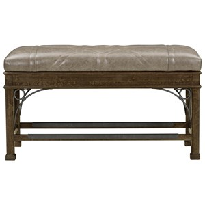 Counter Height Filly Bench with Top-Grain Leather Seat