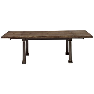 Live Edge Dining Table with Breadboard Leaves
