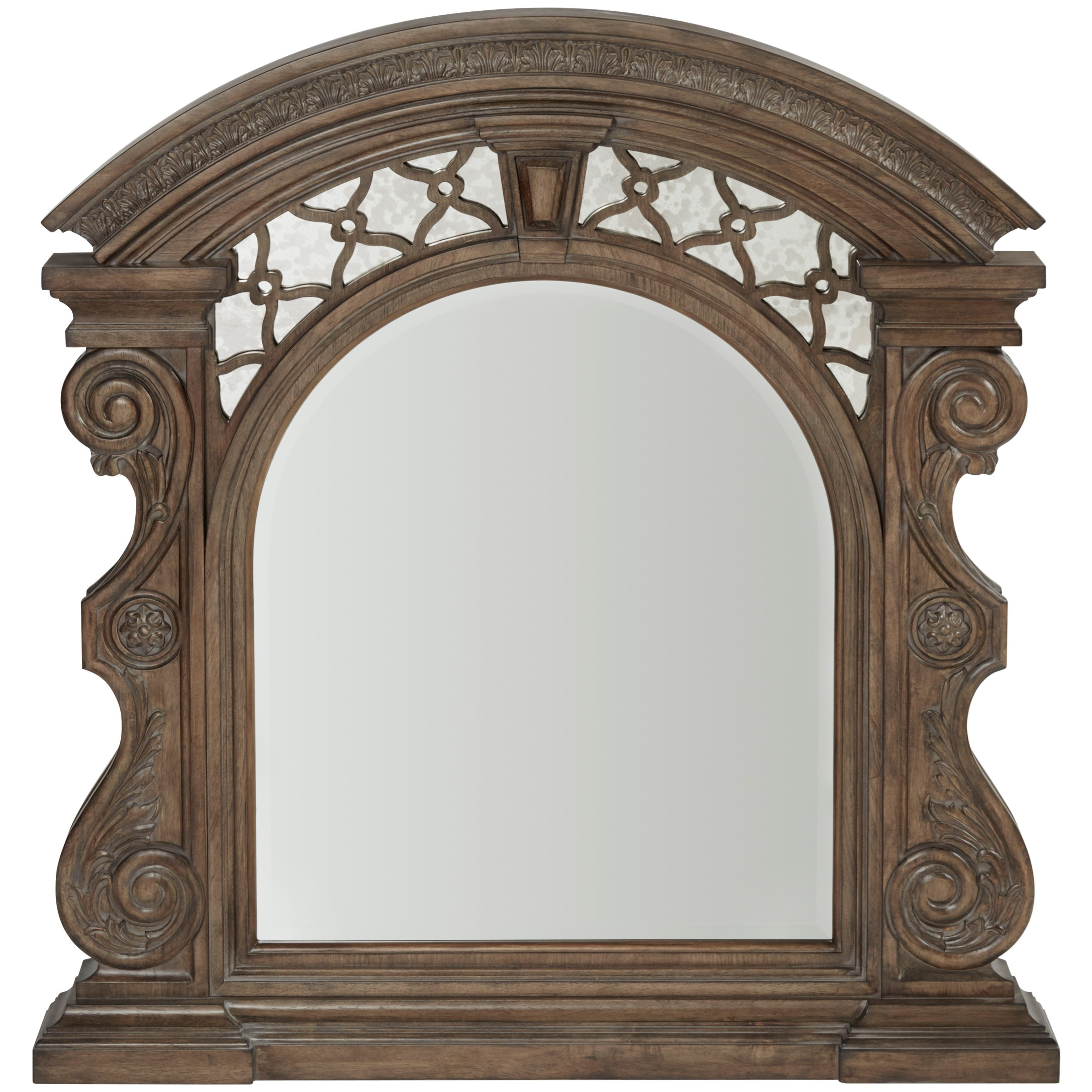 Vintage Salvage  Bentley Carved Mirror  by A.R.T. Furniture Inc at Home Collections Furniture