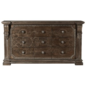 Traditional Wren Dresser with Scrolled Wood Carvings