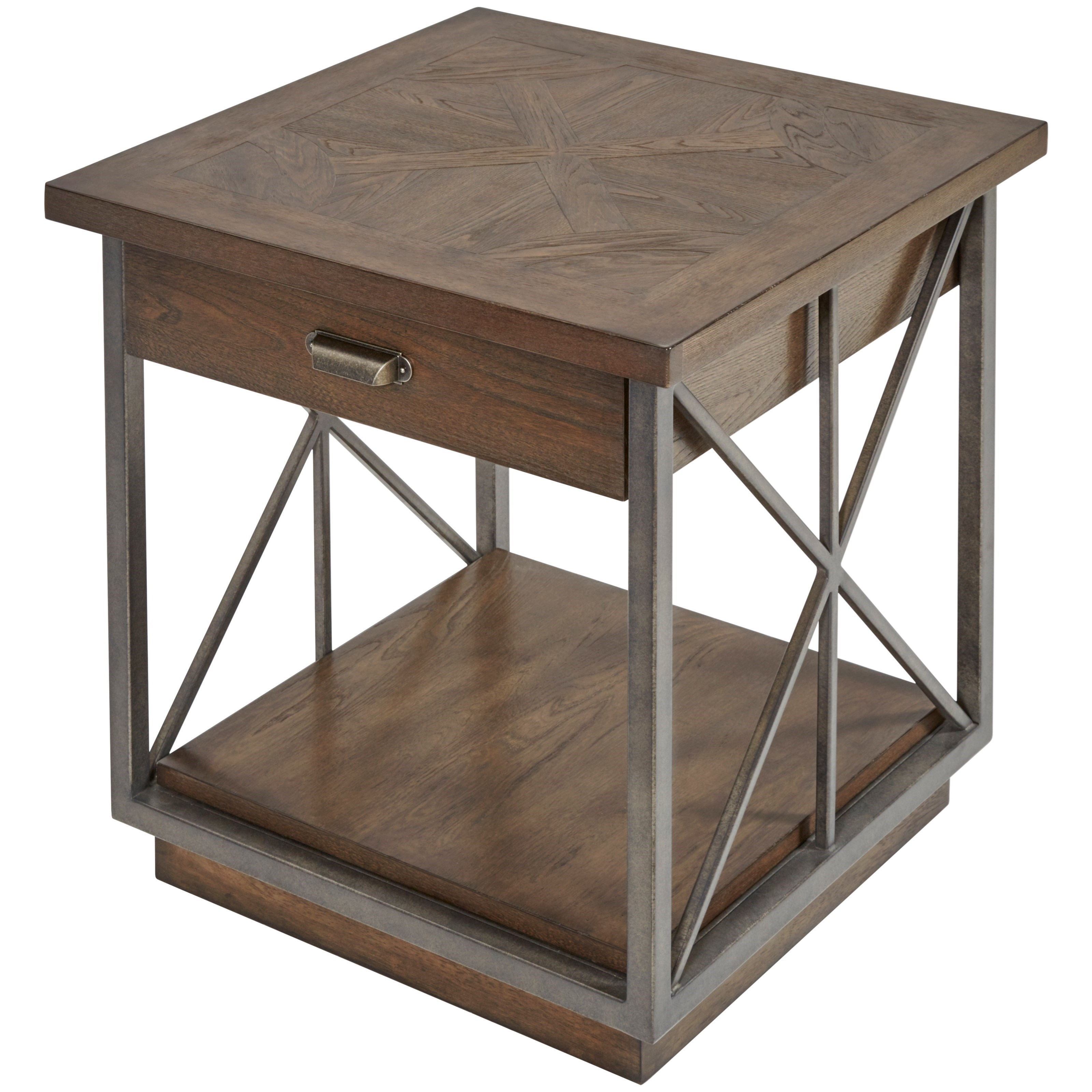 Vintage Salvage  Burton End Table by A.R.T. Furniture Inc at Home Collections Furniture