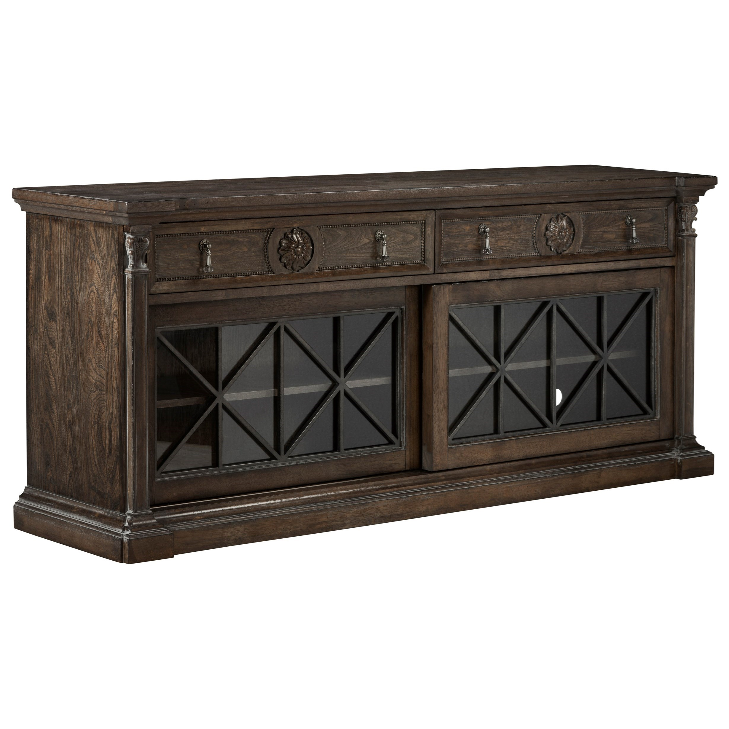 Vintage Salvage  Townley Entertainment Console by A.R.T. Furniture Inc at Home Collections Furniture