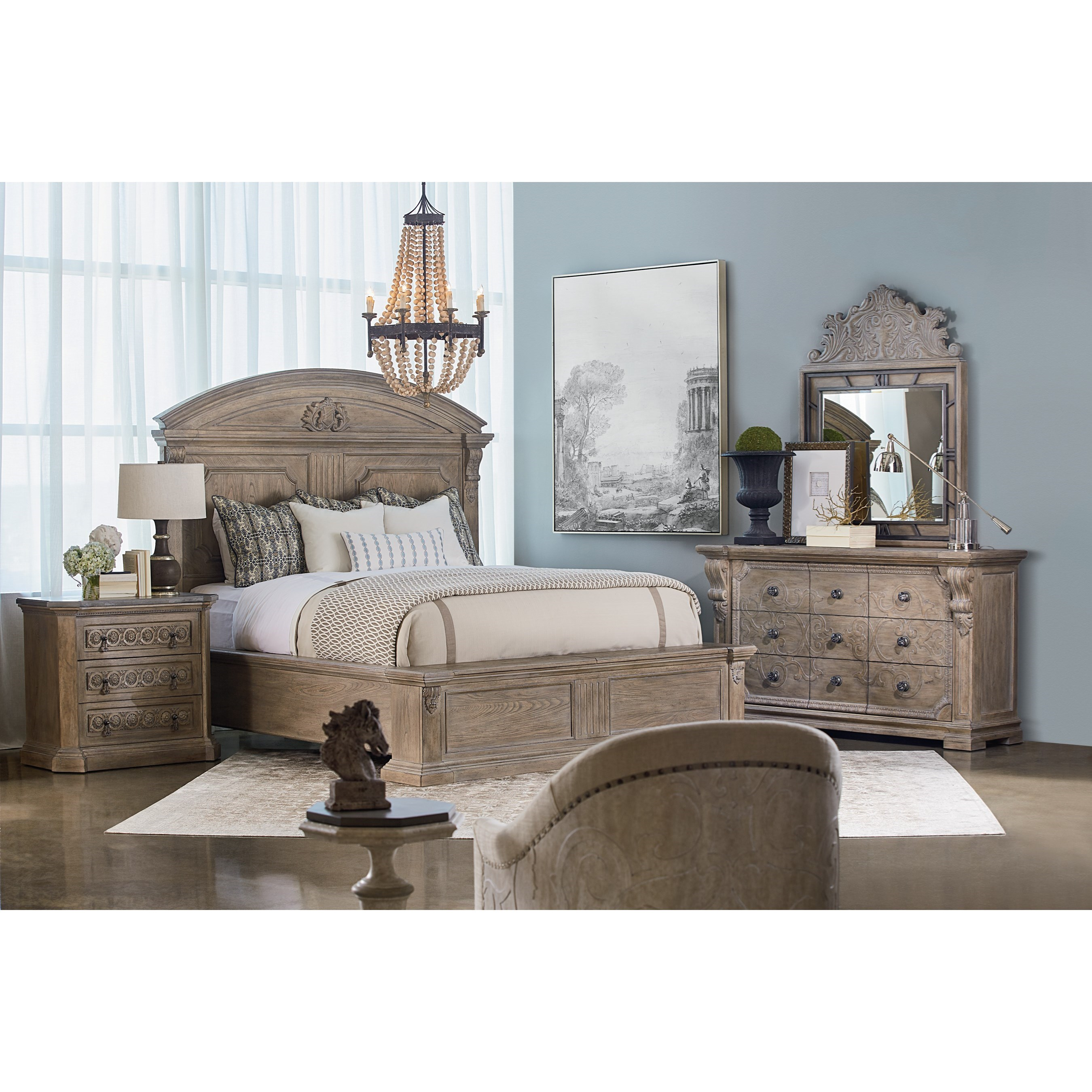 Arch Salvage King Bedroom Group by A.R.T. Furniture Inc at Baer's Furniture
