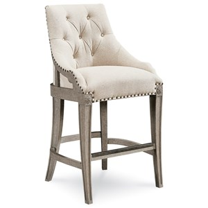 Reeves Bar Chair with Deconstructed Look