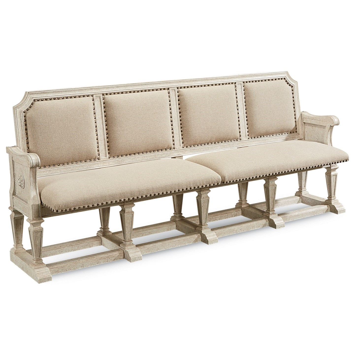 Arch Salvage Becket Dining Bench by A.R.T. Furniture Inc at Baer's Furniture