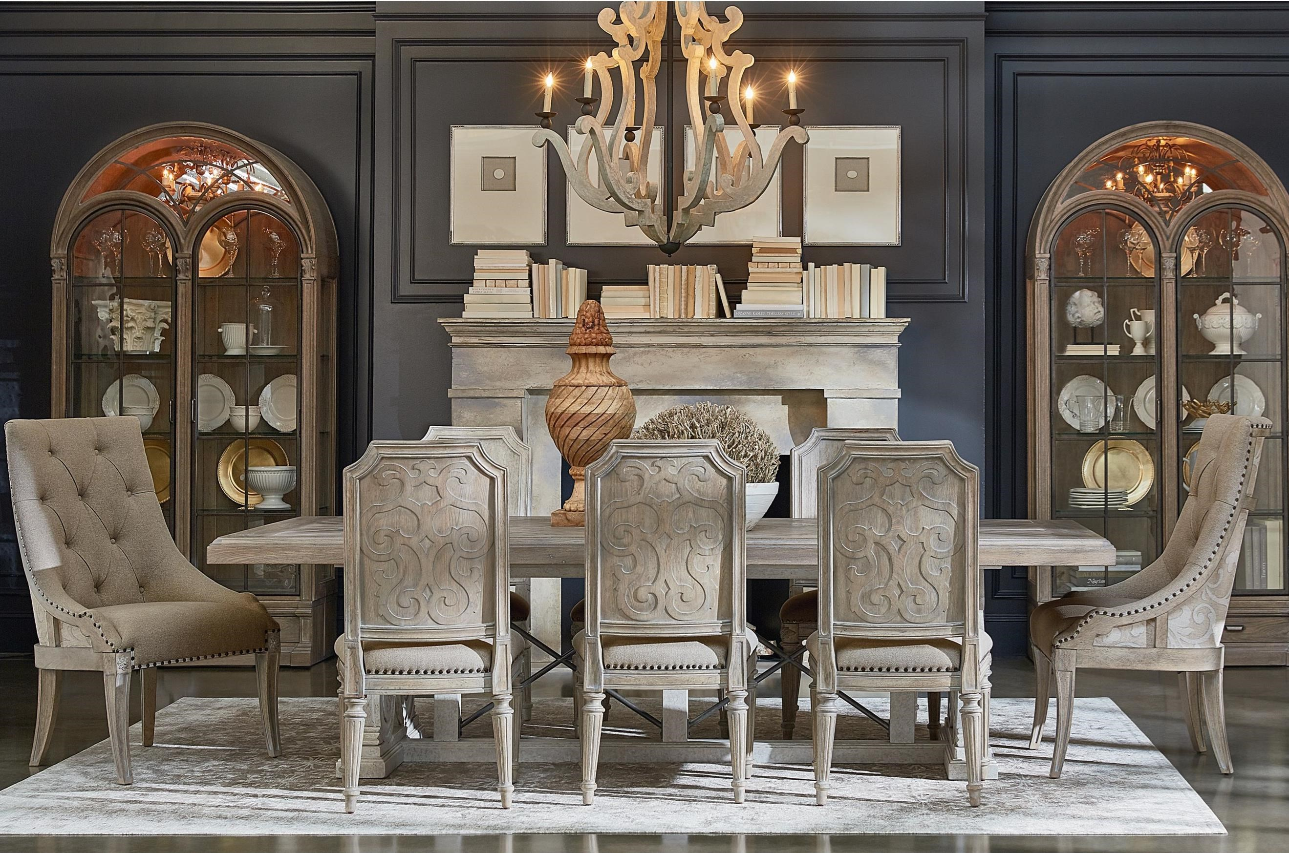 Arch Salvage 9-Piece Pearce Dining Table Set by A.R.T. Furniture Inc at Baer's Furniture