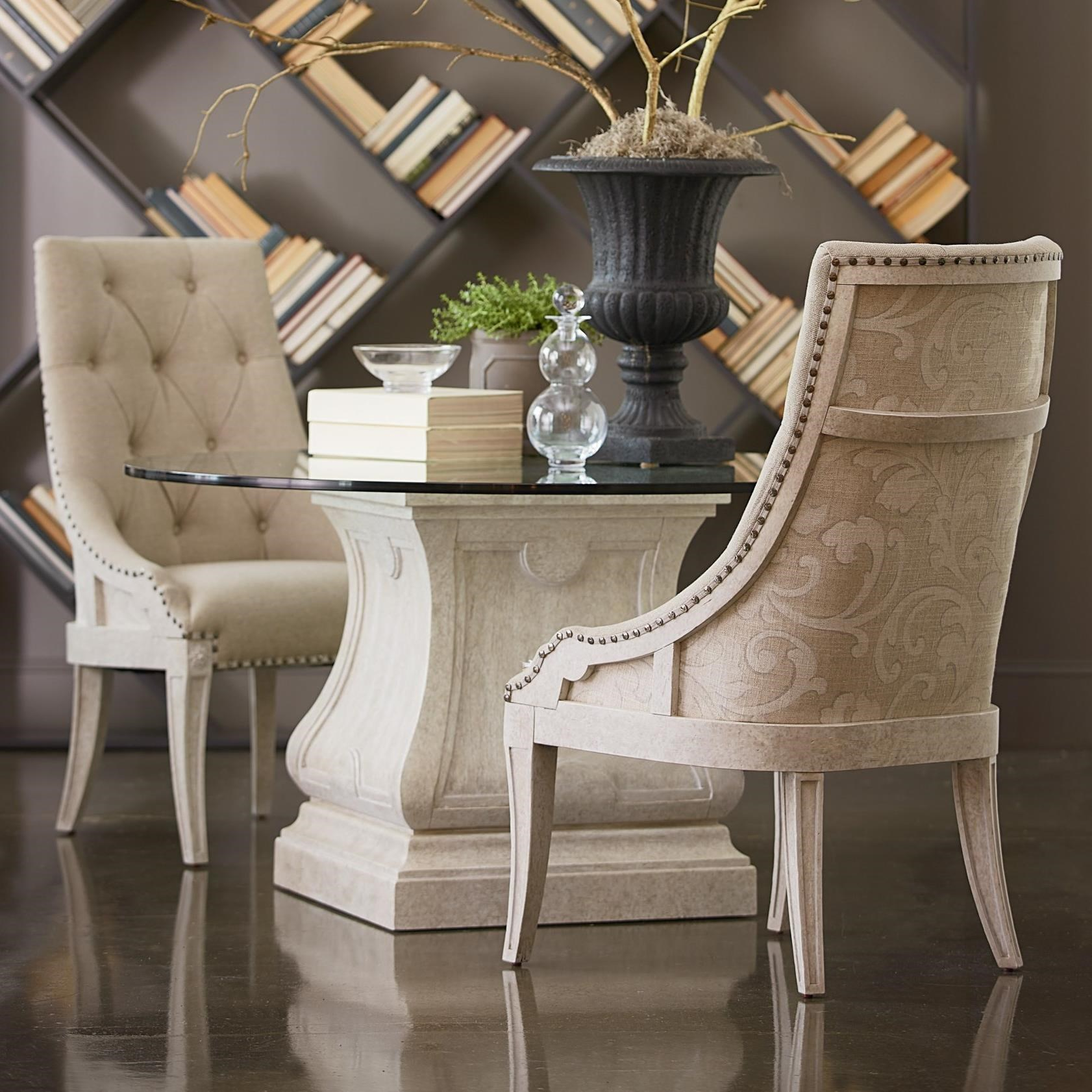"""Arch Salvage 3-Piece 54"""" Round Dining Table Set by A.R.T. Furniture Inc at Baer's Furniture"""