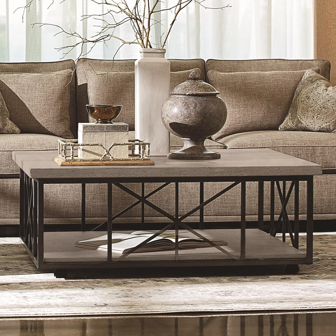 Arch Salvage Burton Cocktail Table by A.R.T. Furniture Inc at Baer's Furniture