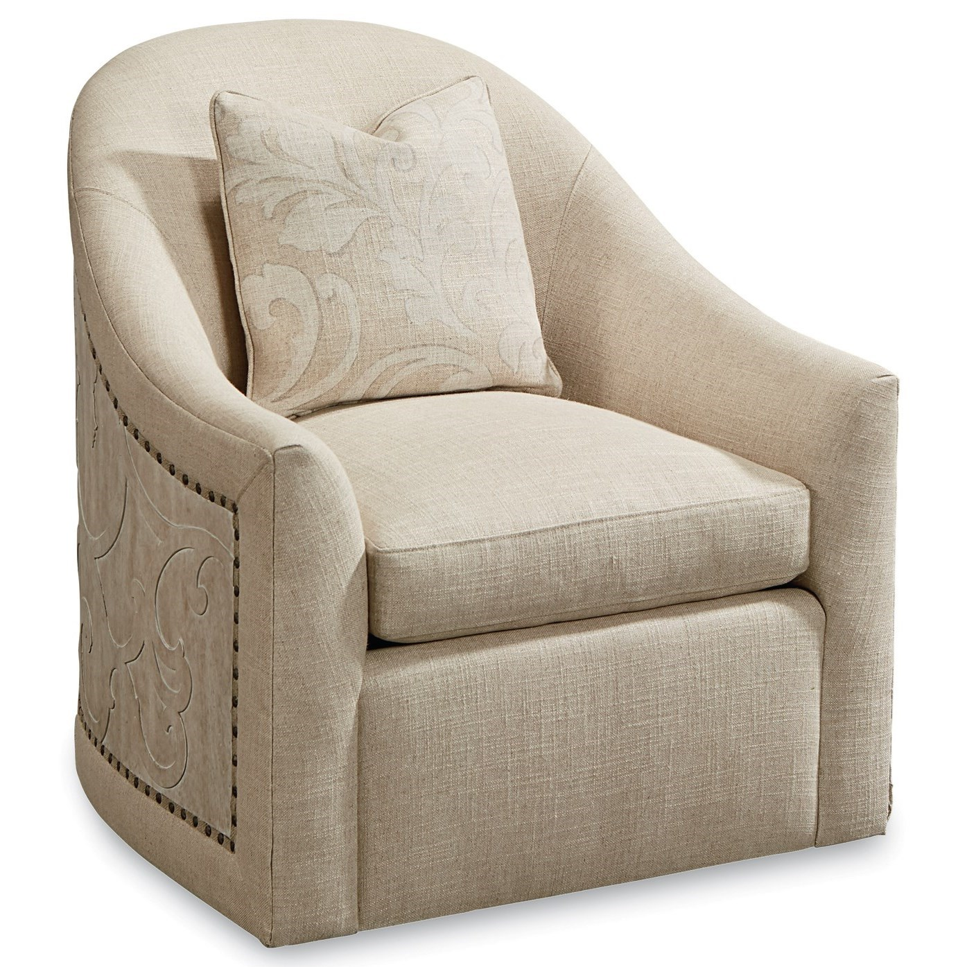 Arch Salvage Coulter Swivel Chair by A.R.T. Furniture Inc at Baer's Furniture