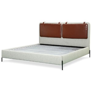 Mid-Century Modern California King Kirkeby Upholstered Bed