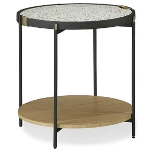 Mid-Century Modern Arne End Table with Terrazzo Top